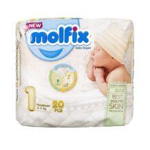 پوشک مولفیکس نوزادی سایز یک Molfix