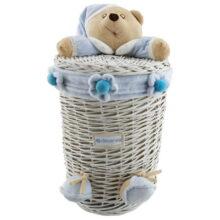 سبد لباس نوزادی ايستاده خرس كلاهدار نانان Nanan سايز 2