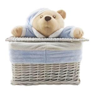 سبد لباس چمدانی متوسط خرس کلاهدار نانان Nanan