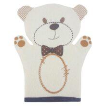 لیف حمام کودک دوخت رنگی خرس پاپیون دار Manini