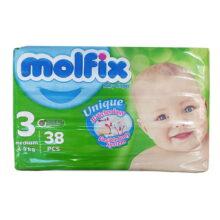 پوشک مولفیکس 38 عددی شماره 3 Molfix