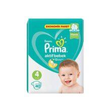 پوشک ۴۰ عددی سایز ۴ نرمال پریما Prima