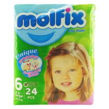پوشک مولفیکس نوزادی 24 عددي سایز 6 Molfix