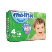 پوشک مولفیکس نوزادی ۴۰عددی سایز ۴ Molfix