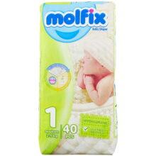پوشک مولفیکس نوزادی به همراه دستمال مرطوب شماره ۱ Molfix