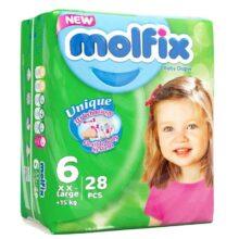 پوشک مولفیکس نوزادی 28 عددي سایز 6 Molfix