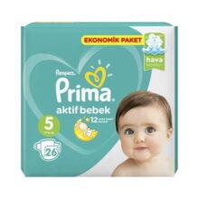 پوشک ۲۶ عددی سایز ۵ پریما Prima