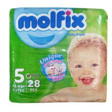 پوشک مولفیکس نوزادی 28 عددی سایز 5 Molfix