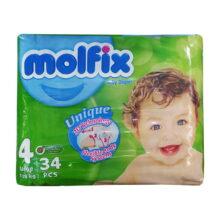 پوشک مولفیکس نوزادی 34 عددي سایز 4 Molfix