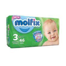 پوشک مولفیکس ۴۶عددی شماره ۳ Molfix