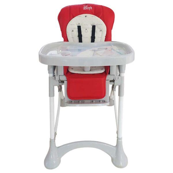 صندلی غذای زویه رنگ قرمز