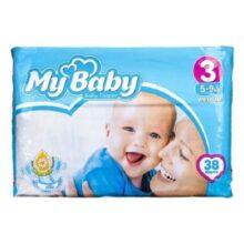 پوشک مای بیبی ۳۲ عددی سایز ۴+ My Baby