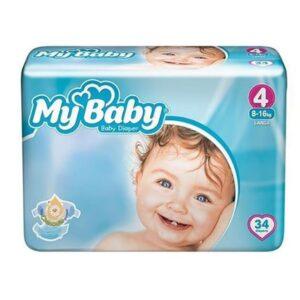 پوشک مای بیبی 34 عددی سایز 4 My Baby