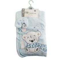 ست حوله تن پوش خرس شالدار مادرکر Mothercare