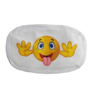 ماسک تنفسی 2لایه کودک قابل شستشو طرح استیکر ایموجی الینا Elina