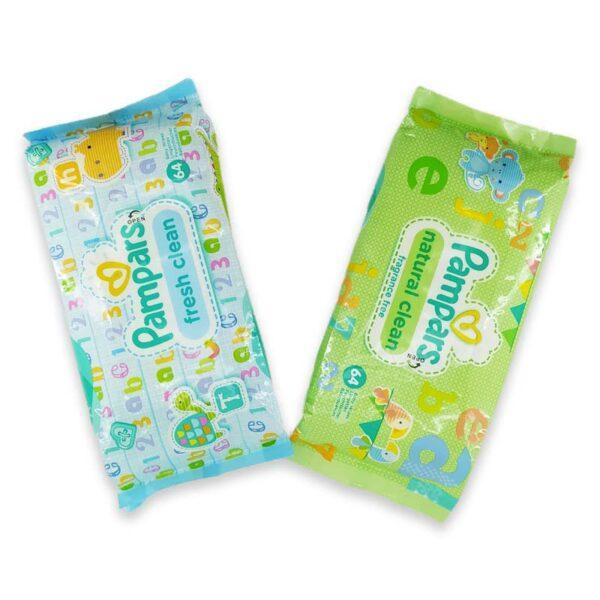 ملزومات بهداشتی کودک و نوزاد   دستمال مرطوب پمپرز