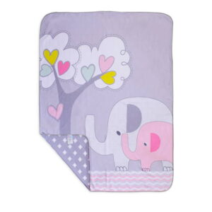 پتو نخ طرح Family Love فیل درخت قلب رزبرن RoseBorn