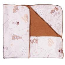 پتو دورپيچ كلاه دار چهارگوش طرح Bear&Kite رزبرن RoseBorn