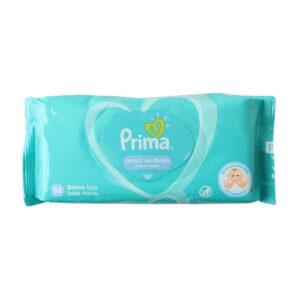 دستمال مرطوب 52 عددی پریما Prima