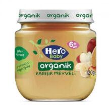 پوره ارگانیک مخلوط میوه هیروبیبی +6 ماه 120 گرم Hero Baby