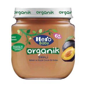 پوره ارگانیک با طعم آلو هیروبیبی+6ماه 120 گرم Hero Baby