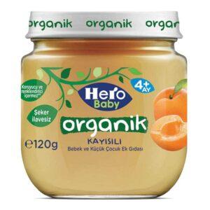 پوره ارگانیک زردآلو هیروبیبی+6ماه 120 گرم Hero Baby