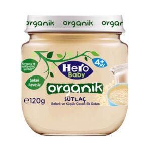 پوره ارگانیک با طعم پودینگ برنج هیروبیبی+4ماه 120 گرم Hero Baby