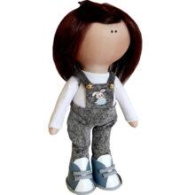عروسک دخترانه روسی بلوز شلوار جين لی چاپ خرگوش Rezvan