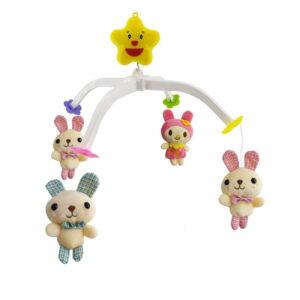 آویز تخت نوزاد عروسک پولیشی خرگوش Sweet