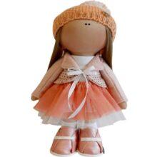 عروسک دخترانه روسی توری کت سارافون کلاه بافتدار Rezvan
