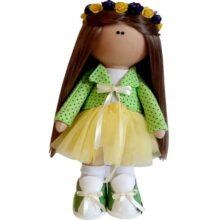 عروسک دخترانه روسی کت سارافون توری تاج گلدار Rezvan