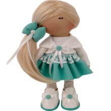 عروسک دخترانه روسی کت بلوز دامن گیپوردار موبلند Rezvan