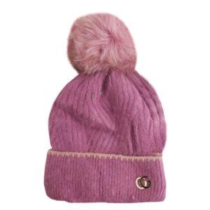 کلاه بچگانه بافت درشت کرکی زمستانی