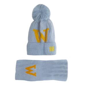 شال کلاه بچگانه بافتنی زمستانی موهر