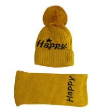 شال کلاه بافتنی بچگانه زمستانی لبه برگرد