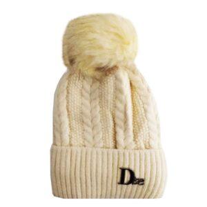 کلاه بافتنی کودک کرکی لبه برگرد زمستانی