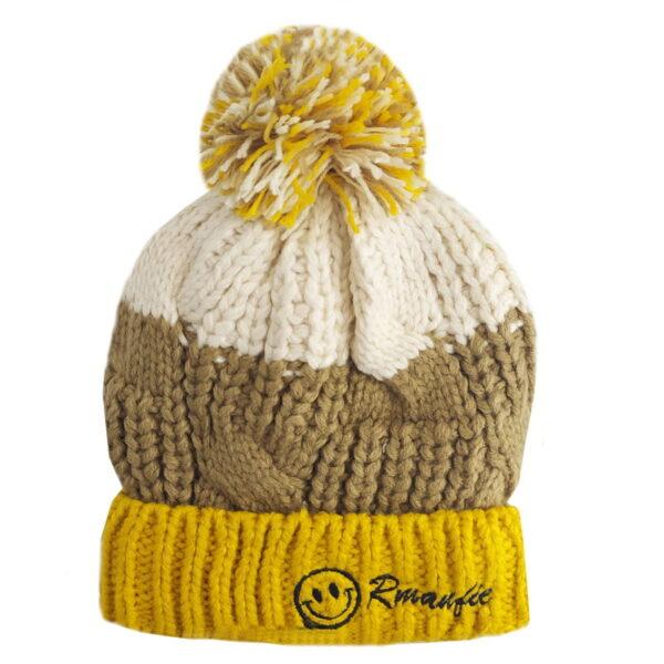 کلاه بچگانه درشت بافت کرکی زمستانی