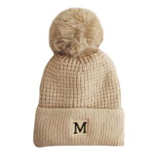 کلاه بافت زمستانی بچگانه کرکی طرح M