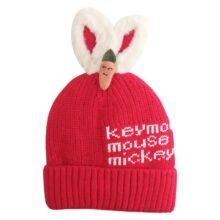 کلاه بافتنی تو کرکی مدل خرگوشی