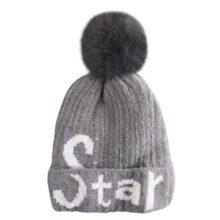کلاه بافتنی بچگانه کرکی زمستانی استار