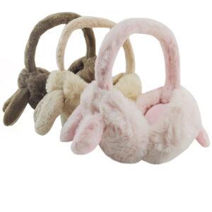 گوش گیر زمستانی بچگانه تاشو طرح خرگوش