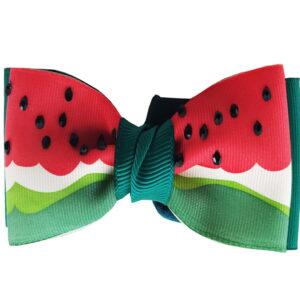 پاپیون و کراوات دخترانه طرح هندوانه مخصوص یلدا