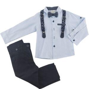 ست پیراهن شلوار مجلسی پسرانه رنگ آبی