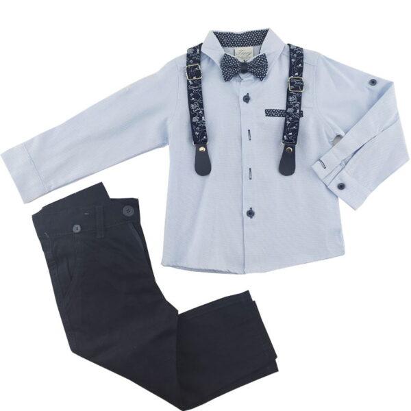 ست پیراهن شلوار مجلسی پسرانه آبی