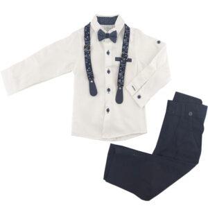 ست پیراهن شلوار مجلسی پسرانه رنگ سفید