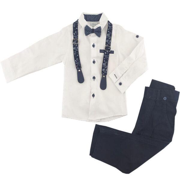 پیراهن شلوار مجلسی پسرانه سفید