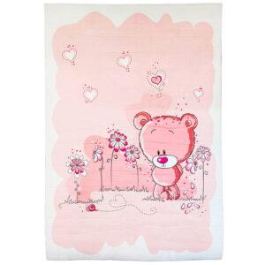 فرش اتاق کودک طرح خرس و گل ماوی کارپت Mavi Carpet