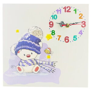 ساعت دیواری اتاق کودک طرح خرس کلاه دار ماوی کارپت Mavi Carpet
