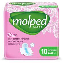 نوار بهداشتی بالدار مدل اولترا 10 عددی مولپد Molpad