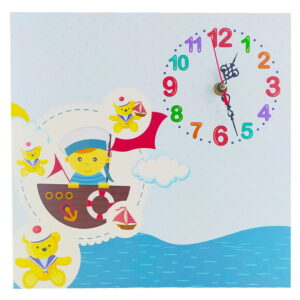 ساعت دیواری اتاق کودک طرح خرس ملوان ماوی کارپت Mavi Carpet